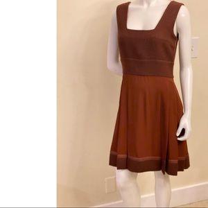 Prada Maroon Pleated Dress